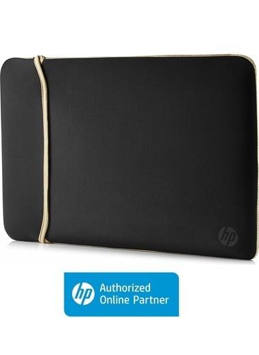"""HP HP 2UF60AA 15.6"""" Neopren Çevrilebilir Notebook Kılıf Siyah/Altın Renkli"""